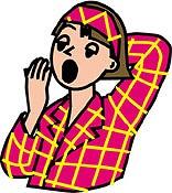 女性あくび